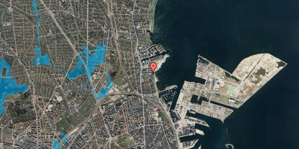 Oversvømmelsesrisiko fra vandløb på Scherfigsvej 12, 2100 København Ø