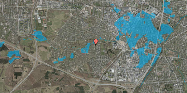 Oversvømmelsesrisiko fra vandløb på Vængedalen 808, 2600 Glostrup