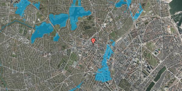 Oversvømmelsesrisiko fra vandløb på Rentemestervej 56B, 2400 København NV