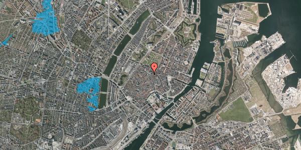 Oversvømmelsesrisiko fra vandløb på Pilestræde 55A, 3. , 1112 København K