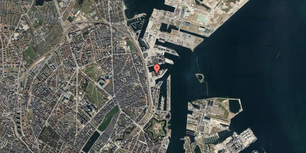 Oversvømmelsesrisiko fra vandløb på Marmorvej 7E, 2. tv, 2100 København Ø