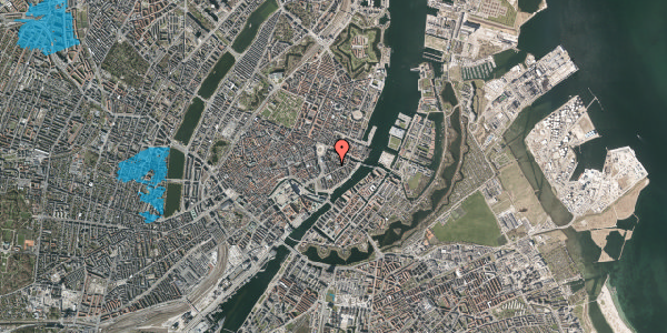 Oversvømmelsesrisiko fra vandløb på Peder Skrams Gade 8, 3. th, 1054 København K