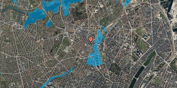 Oversvømmelsesrisiko fra vandløb på Tranevej 6B, 5. tv, 2400 København NV