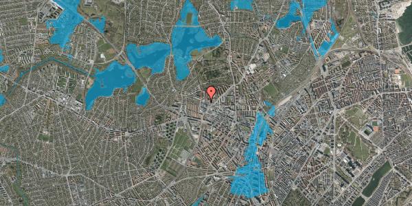 Oversvømmelsesrisiko fra vandløb på Dortheavej 36C, 2400 København NV