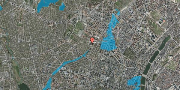 Oversvømmelsesrisiko fra vandløb på Jordbærvej 131, 2400 København NV