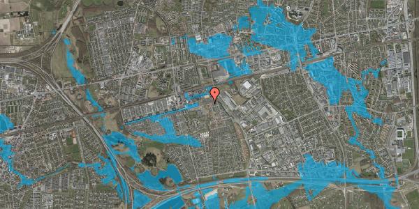 Oversvømmelsesrisiko fra vandløb på Kløvervænget 72, st. 42, 2625 Vallensbæk