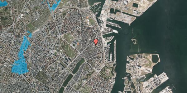 Oversvømmelsesrisiko fra vandløb på Strandboulevarden 47B, 2100 København Ø