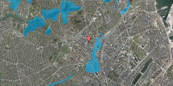 Oversvømmelsesrisiko fra vandløb på Glasvej 27, 4. th, 2400 København NV