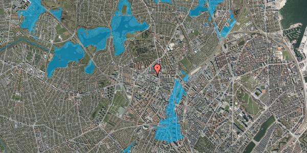 Oversvømmelsesrisiko fra vandløb på Dortheavej 2D, 4. th, 2400 København NV