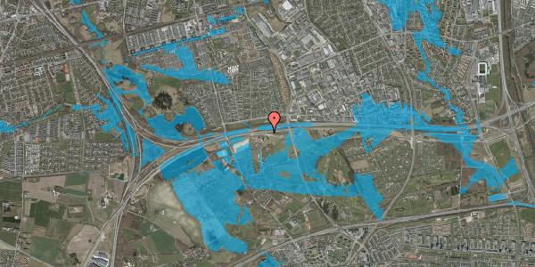 Oversvømmelsesrisiko fra vandløb på Kirkebakke Alle 24, 2625 Vallensbæk