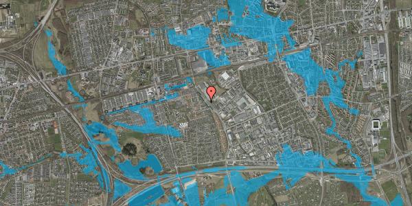 Oversvømmelsesrisiko fra vandløb på Firkløverparken 51, 2625 Vallensbæk