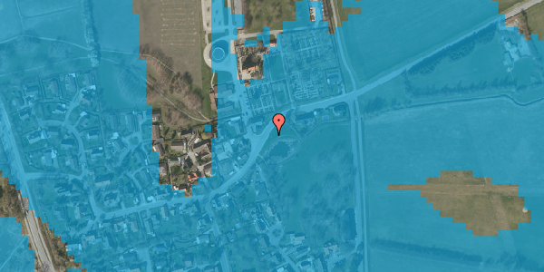 Oversvømmelsesrisiko fra vandløb på Brøndbyvej 199, 2625 Vallensbæk