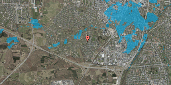 Oversvømmelsesrisiko fra vandløb på Vængedalen 205, 2600 Glostrup