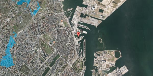Oversvømmelsesrisiko fra vandløb på Marmorvej 11B, 1. tv, 2100 København Ø
