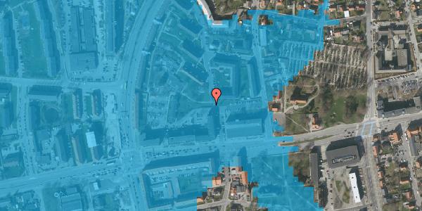 Oversvømmelsesrisiko fra vandløb på Vestervej 7, 2600 Glostrup