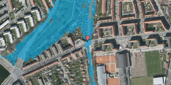 Oversvømmelsesrisiko fra vandløb på Peter Bangs Vej 163C, 2000 Frederiksberg