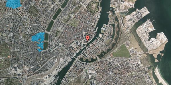Oversvømmelsesrisiko fra vandløb på Niels Juels Gade 13, 1059 København K