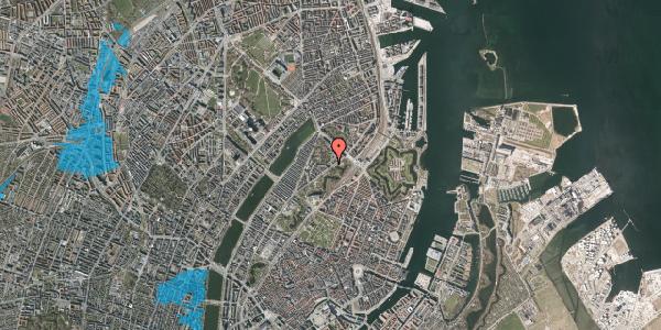 Oversvømmelsesrisiko fra vandløb på Hjalmar Brantings Plads 14, 2100 København Ø
