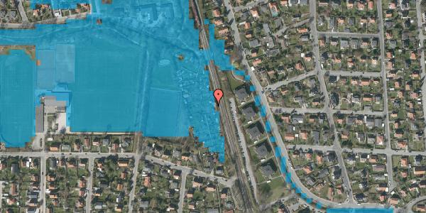 Oversvømmelsesrisiko fra vandløb på Rødhalsgangen 9, 2400 København NV