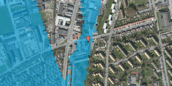 Oversvømmelsesrisiko fra vandløb på Bibliotekvej 49, 1. , 2650 Hvidovre