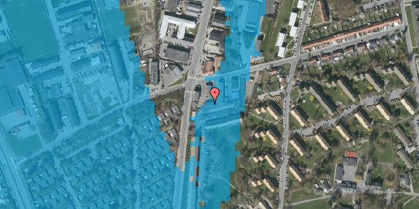 Oversvømmelsesrisiko fra vandløb på Bibliotekvej 53B, 1. , 2650 Hvidovre