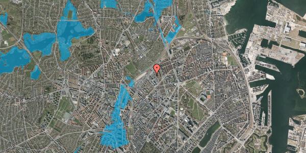 Oversvømmelsesrisiko fra vandløb på Emblasgade 97, 2100 København Ø