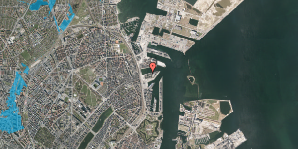 Oversvømmelsesrisiko fra vandløb på Marmorvej 31, st. tv, 2100 København Ø