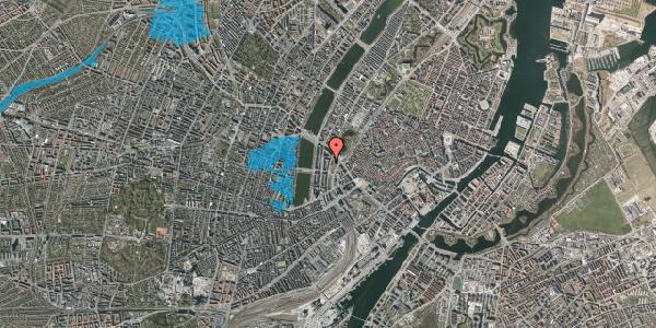 Oversvømmelsesrisiko fra vandløb på Vester Farimagsgade 33, 3. , 1606 København V