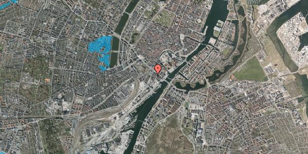 Oversvømmelsesrisiko fra vandløb på Anker Heegaards Gade 7A, 1. th, 1572 København V