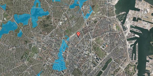 Oversvømmelsesrisiko fra vandløb på Vermundsgade 43A, 2100 København Ø