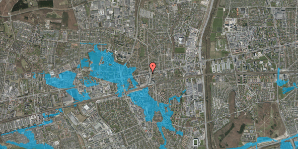 Oversvømmelsesrisiko fra vandløb på Glostrup Shoppingcenter 100, 2. , 2600 Glostrup