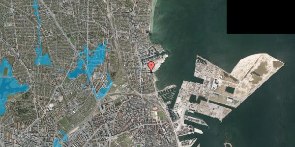 Oversvømmelsesrisiko fra vandløb på Scherfigsvej 9, 2100 København Ø