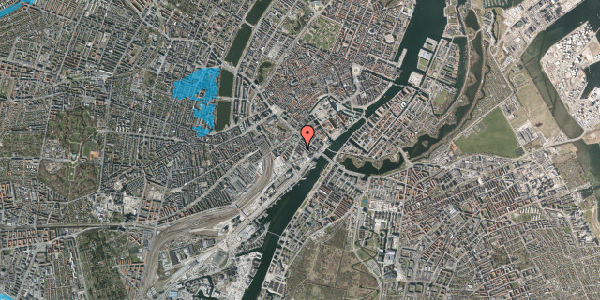 Oversvømmelsesrisiko fra vandløb på Anker Heegaards Gade 6, 1572 København V