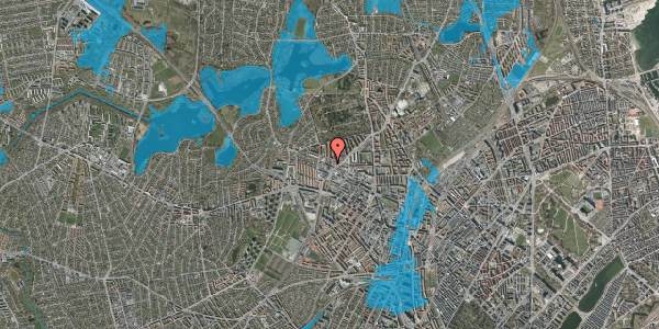 Oversvømmelsesrisiko fra vandløb på Dortheavej 34, 1. 6, 2400 København NV