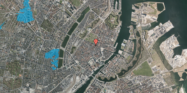 Oversvømmelsesrisiko fra vandløb på Gammel Mønt 12, 2. th, 1117 København K