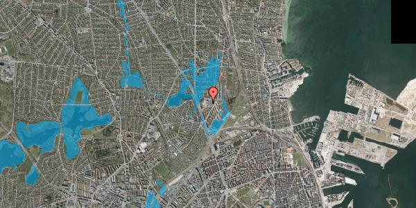 Oversvømmelsesrisiko fra vandløb på Gartnerivej 5B, 2100 København Ø