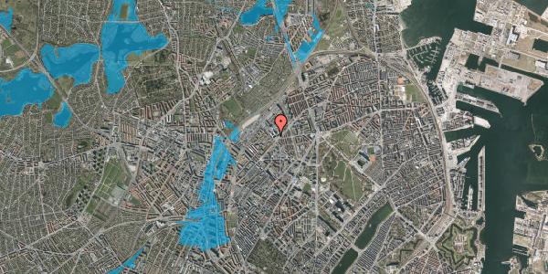 Oversvømmelsesrisiko fra vandløb på Vermundsgade 38F, 3. th, 2100 København Ø