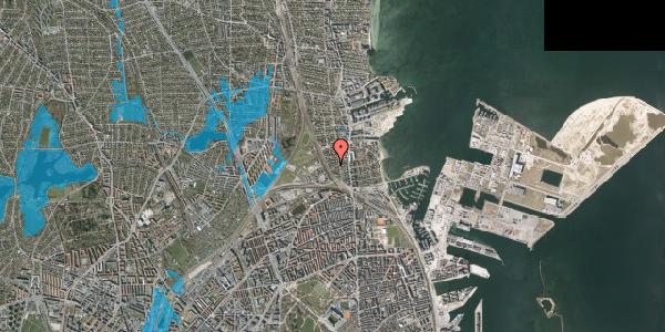 Oversvømmelsesrisiko fra vandløb på Sølundsvej 8C, 2100 København Ø