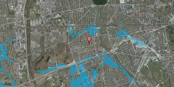 Oversvømmelsesrisiko fra vandløb på Nørremarksvej 16, 2650 Hvidovre