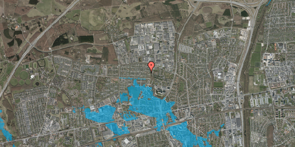 Oversvømmelsesrisiko fra vandløb på Haveforeningen Hersted 35, 2600 Glostrup