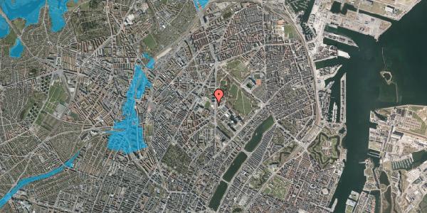Oversvømmelsesrisiko fra vandløb på Nørre Allé 57, 2100 København Ø