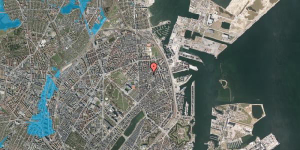 Oversvømmelsesrisiko fra vandløb på Viborggade 47A, 2100 København Ø