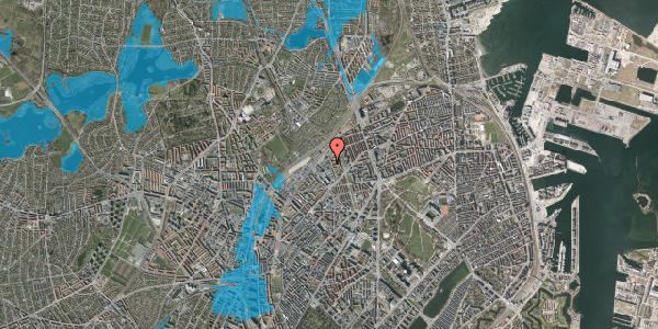 Oversvømmelsesrisiko fra vandløb på Emblasgade 119, 1. th, 2100 København Ø