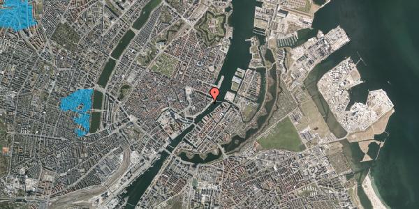 Oversvømmelsesrisiko fra vandløb på Havnegade 44, 1. , 1058 København K