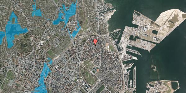 Oversvømmelsesrisiko fra vandløb på Nygårdsvej 30B, 1. , 2100 København Ø
