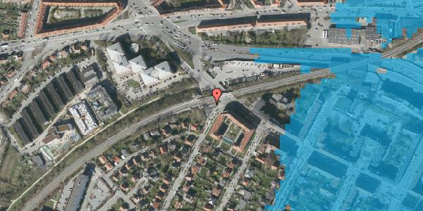 Oversvømmelsesrisiko fra vandløb på Solsortvej 125B, 2000 Frederiksberg