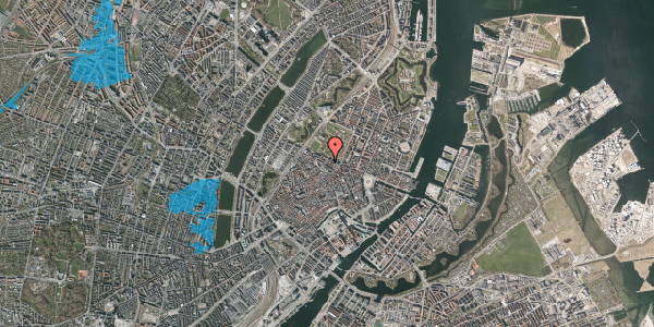 Oversvømmelsesrisiko fra vandløb på Vognmagergade 10, 4. , 1120 København K