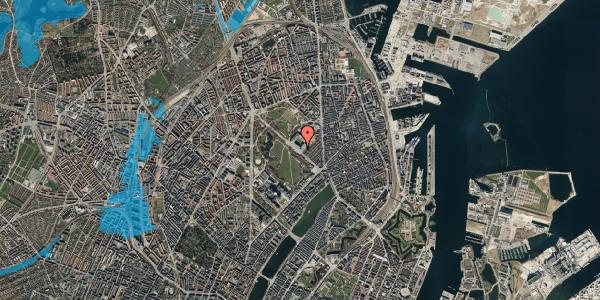 Oversvømmelsesrisiko fra vandløb på Øster Allé 42, 6. , 2100 København Ø