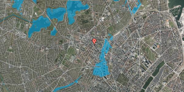 Oversvømmelsesrisiko fra vandløb på Theklavej 10, 2400 København NV