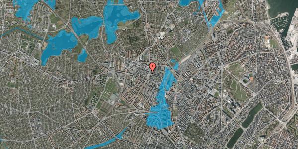 Oversvømmelsesrisiko fra vandløb på Glasvej 31, 3. th, 2400 København NV